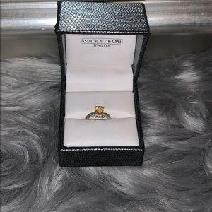 Honey Topaz Birthstone Ring